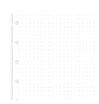 Filofax: A5 Notebook Grid Dot Journal Refill Paper