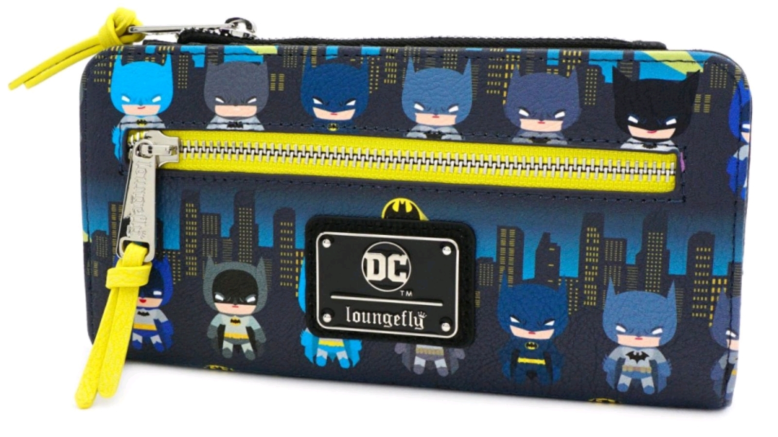 Loungefly: Batman - Gotham City Chibi Print Flap Wallet image