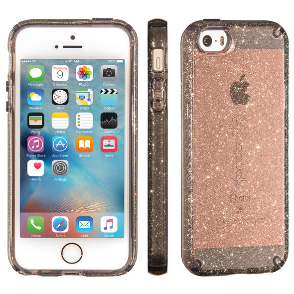 best website 511ff 39841 Speck iPhone 5/5s Candyshell Case (Onyx Gold Glitter) | at Mighty Ape NZ