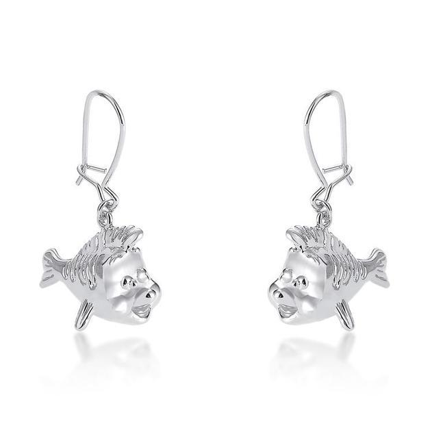 Couture Kingdom: Disney - Princess Ariel Flounder Hook Earrings (White Gold)