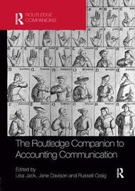 The Routledge Companion to Accounting Communication