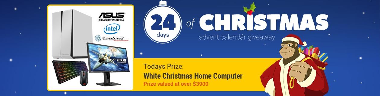 24 Days: White Christmas Home Computer