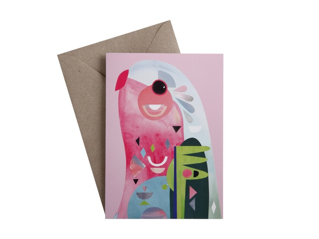 Pete Cromer: Greeting Card - Parrot