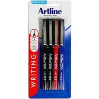 Artline 200 Fineliner Pen 0.4mm Assorted (4 Pack)