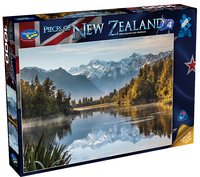Holdson: Pieces of New Zealand - Series 4 - Misty Sunrise Lake Matheson - 1000 Piece Puzzle image