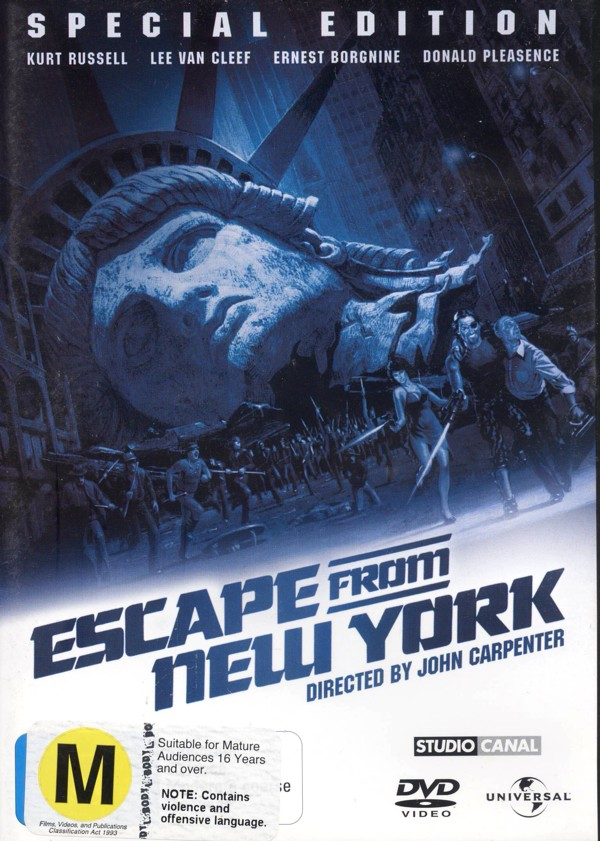 Escape From New York - Special Edition on DVD image