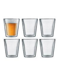 Bodum: Canteen Double Wall Glasses (200ml) - Box of 6