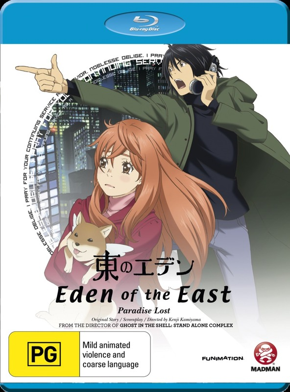 Eden of the East Movie 2 - Paradise Lost on Blu-ray