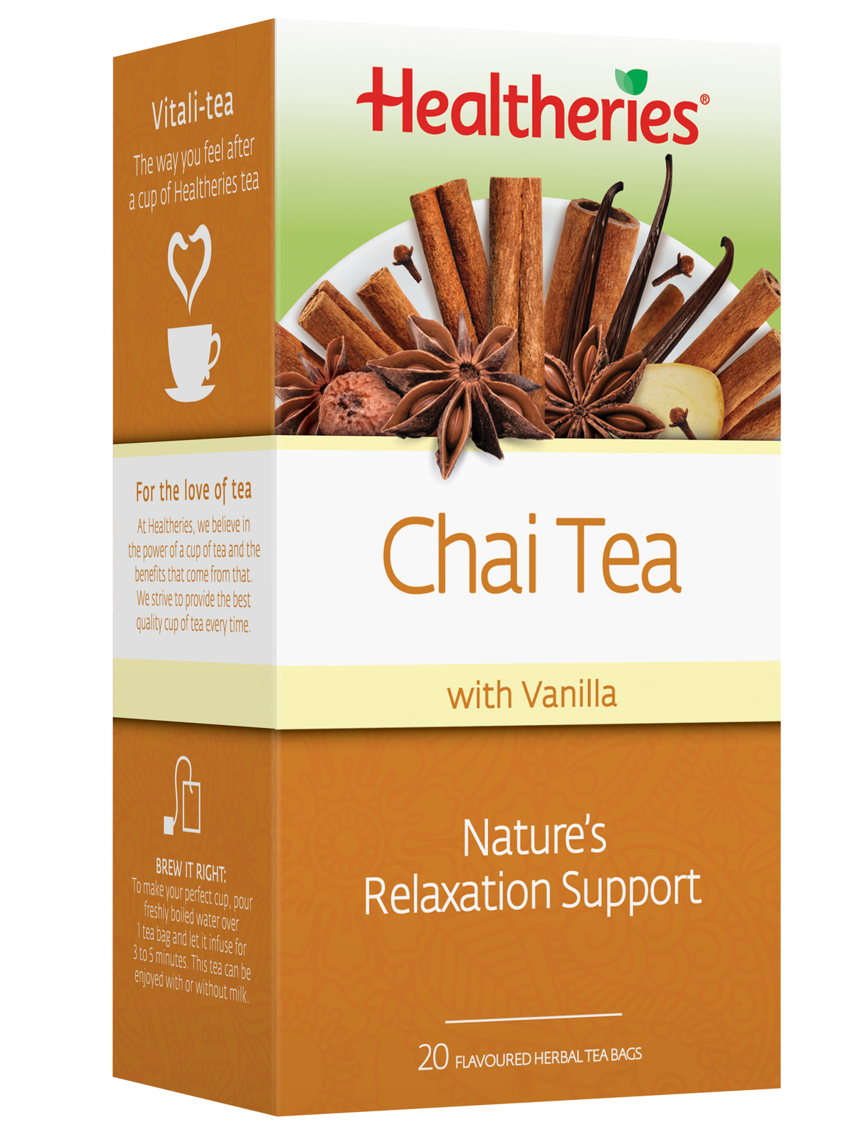 Healtheries Chai with Vanilla Tea (Pack of 20) image