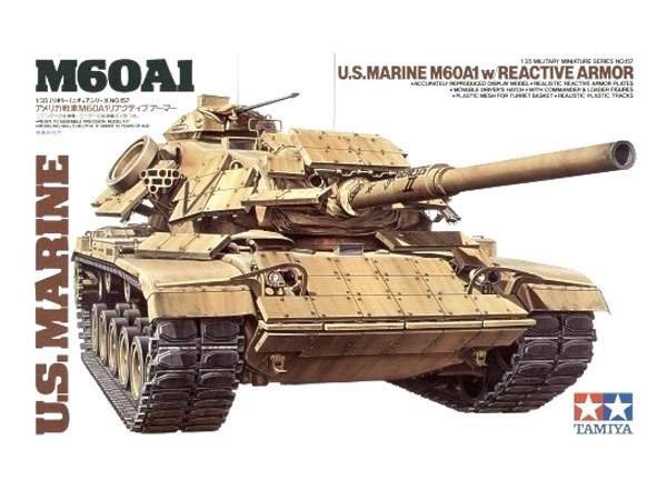Tamiya: 1/35 U.S. Marine M60A1 W/Reactive Armour - Model Kit