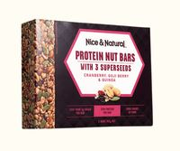 Nice & Natural Protein Nut Bars - Cranberry Goji Berry & Quinoa (165g)