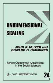 Unidimensional Scaling by John P McIver