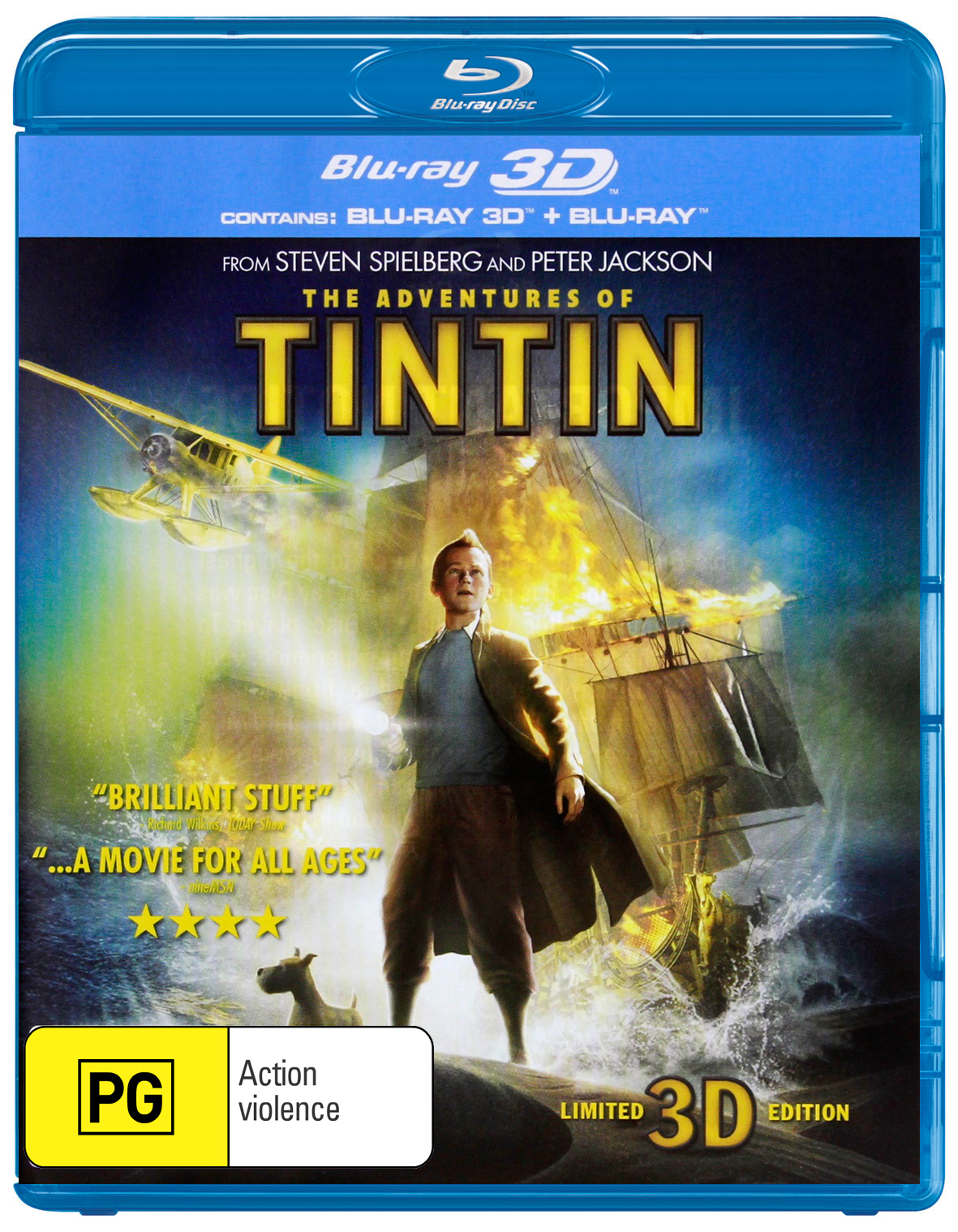 The Adventures of Tintin: Secret of the Unicorn on Blu-ray, 3D Blu-ray image