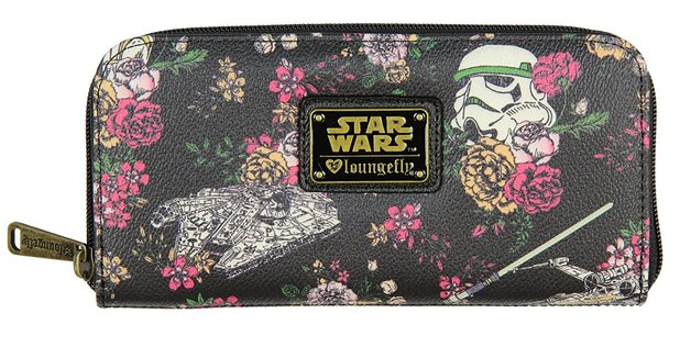 Loungefly Star Wars Stormtrooper Floral Zip Around Wallet