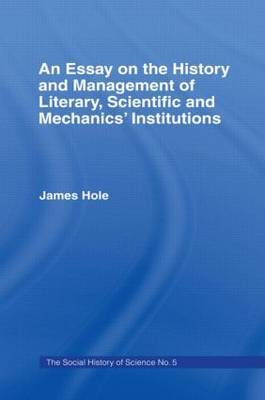 Essay on History and Management by James Hole image