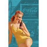 Coca Cola Pin Up Girl Tea Towel