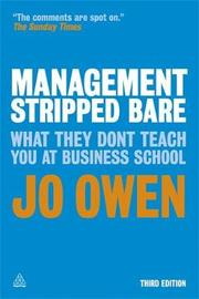 Management Stripped Bare by Jo Owen