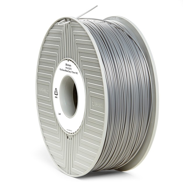 Verbatim 3D Printer PLA 1.75mm Filament - 1kg (Silver/Metal Grey)