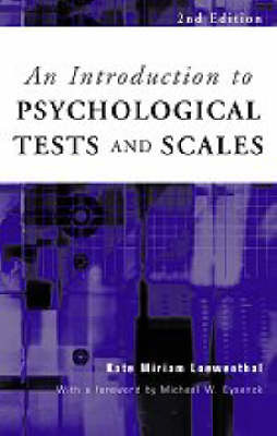 An Introduction to Psychological Tests and Scales by Kate Loewenthal image