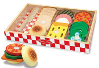 Melissa & Doug: Wooden Sandwich Making Set
