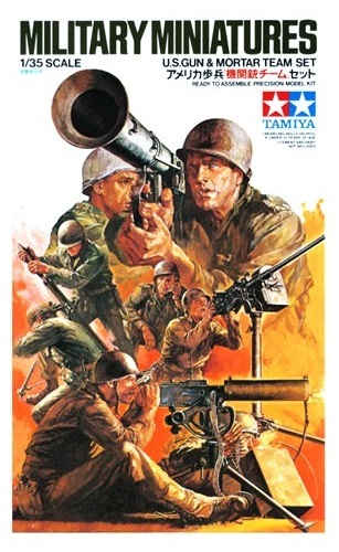 Tamiya 1/35 U.S. Gun and Mortar Team - Model Kit