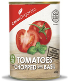 Ceres Organics Chopped Tomatoes with Basil 400g