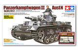 Tamiya Panzer III with Aber Photo Etched Parts & Metal Gun Barrel 1:35 Model Kitset
