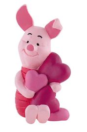 Winnie The Pooh Figure - Piglet with Hearts