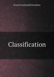 Classification by Ernest Cushing Richardson