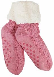 Slumbies Pink Women's Cable Shortie