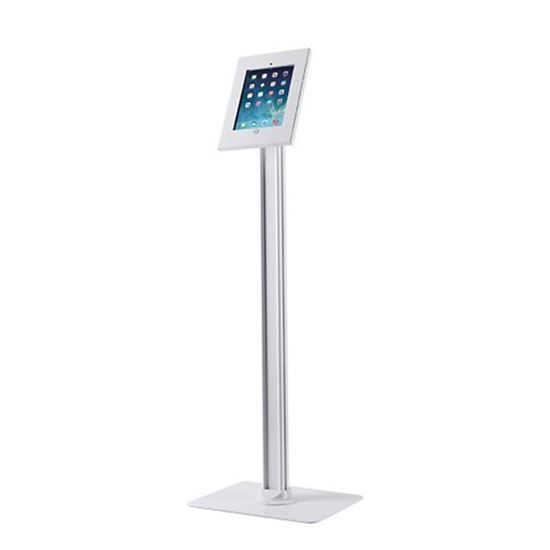 BRATECK: Universal iPad 2/3/4/Air. Anti-theft Floor Stand. Rotation 90° for portrait or landscape orientation.