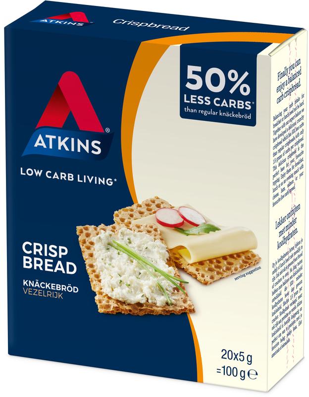 Atkins Low Carb Crispbread 100g (6 Box Value Pack) image