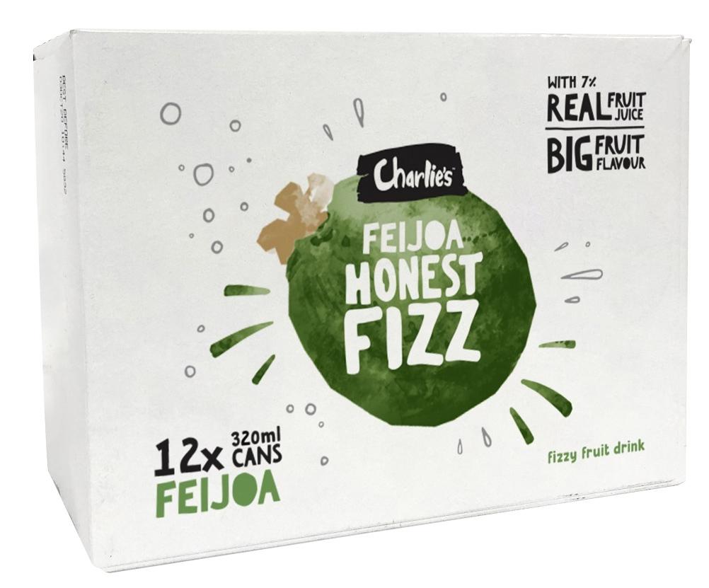 Charlie's Honest Fizz - Feijoa 320ml (12 Pack) image