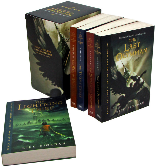Percy Jackson and the Olympians Boxed Set (Complete Books 1-5) by Rick ...