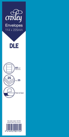 Envelope DLE Blue - 114x225mm (Pack 25)
