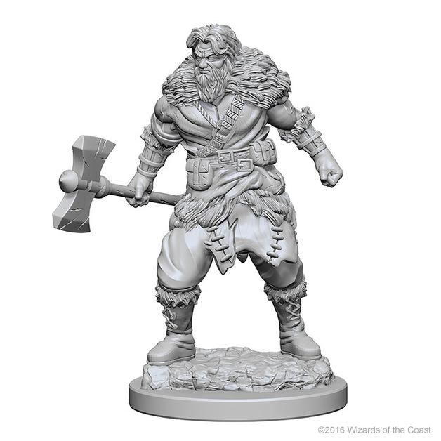 D&D Nolzur's Marvelous: Unpainted Minis - Human Male Barbarian