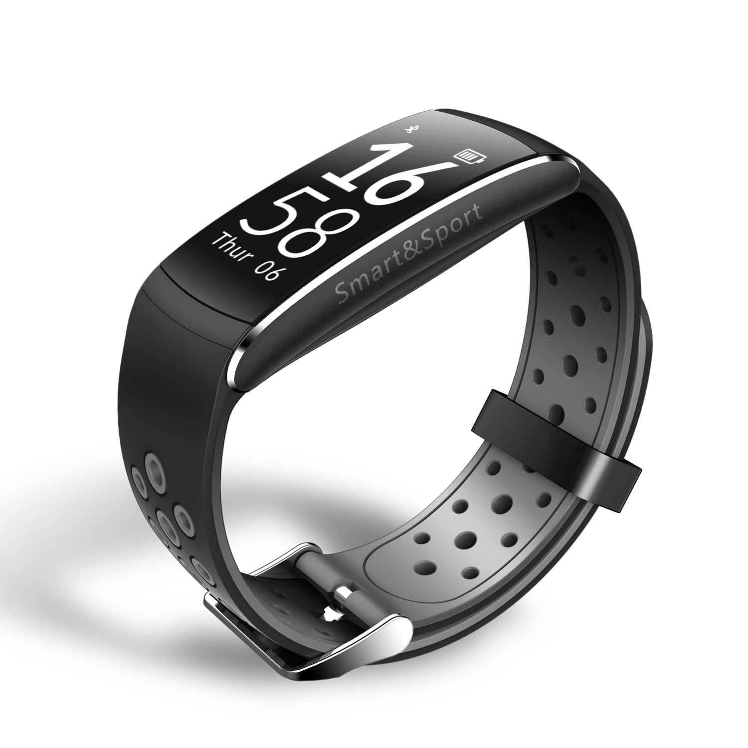 Waterproof Fitness Activity Tracker w/ Swimming Mode - Black image