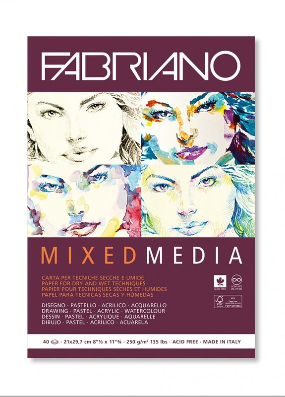 Fabriano: Mixed Media Pad - A4 250gsm (40 Sheets)