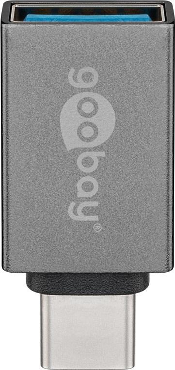 Goobay: USB-A to USB-C Super Speed Adapter - Grey