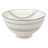 Etta Black and White Masa Large Bowl (13.5cm)