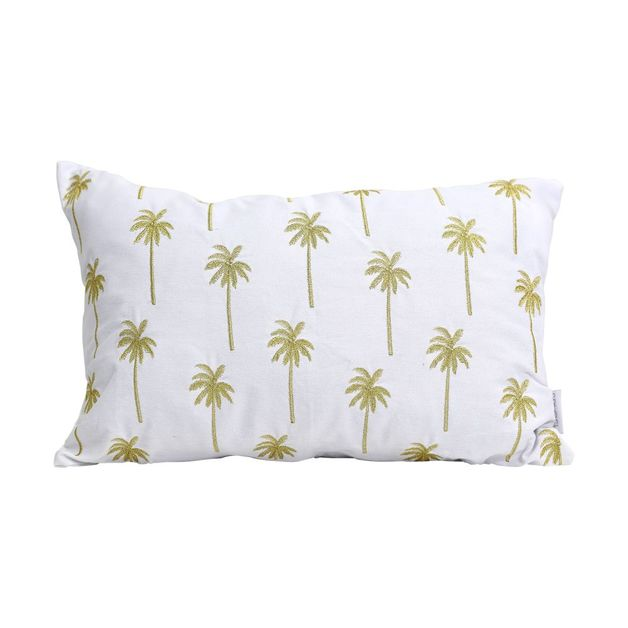 Splosh: Tranquil Golden Palm Cushion