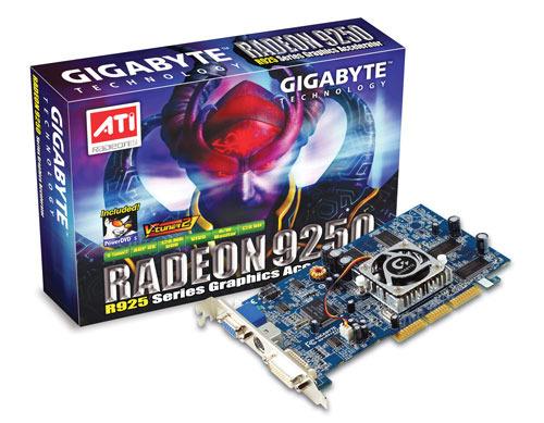 Gigabyte Graphics Card Radeon R9250 Series 128M VIVO AGP
