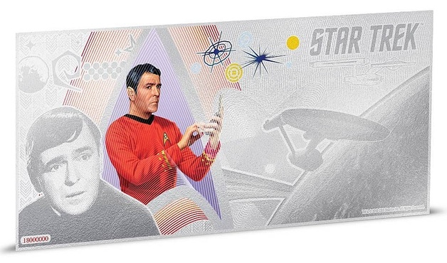 NZ Mint: Star Trek - Silver Coin Note - Scotty 2018 (5g Silver)