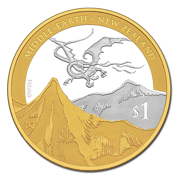 The Hobbit: The Desolation of Smaug - Silver Proof Coin with Gold Plating