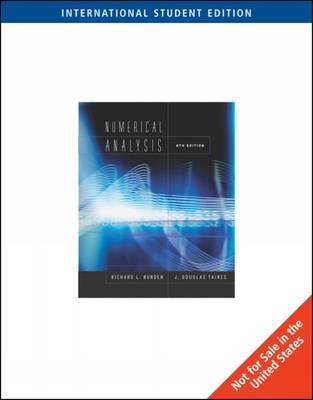 Numerical Analysis by J.Douglas Faires