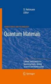 Quantum Materials, Lateral Semiconductor Nanostructures, Hybrid Systems and Nanocrystals image