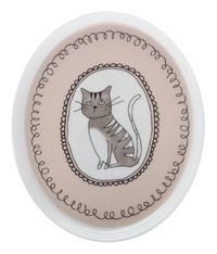 Maxwell & Williams: Purrfect Oval Plate - Cream (16cm)