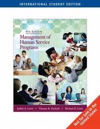 Management of Human Service Programs by Thomas R Packard image
