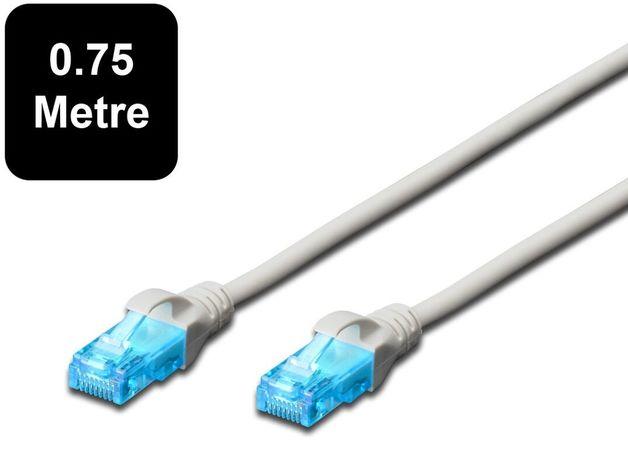 0.75m Digitus UTP Cat5e Network Cable - Grey