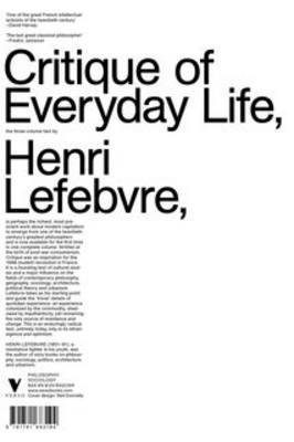 Critique of Everyday Life by Henri Lefebvre image